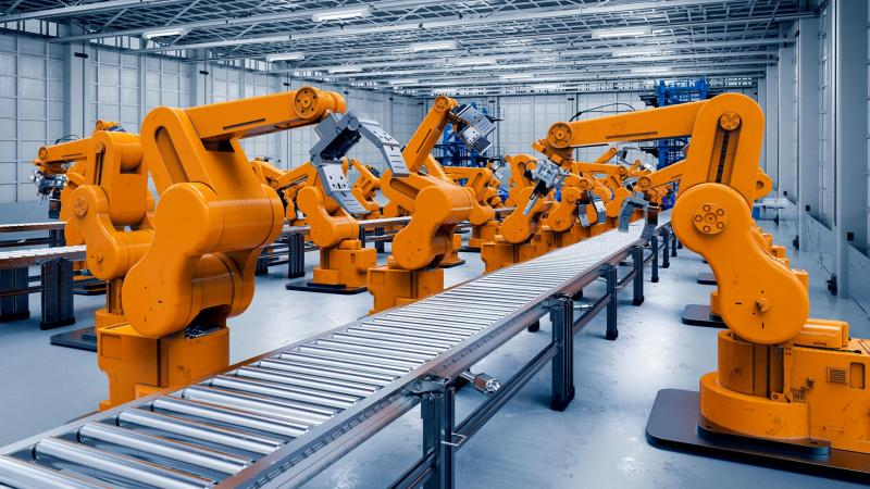 The introduction of robots in conveyor lines